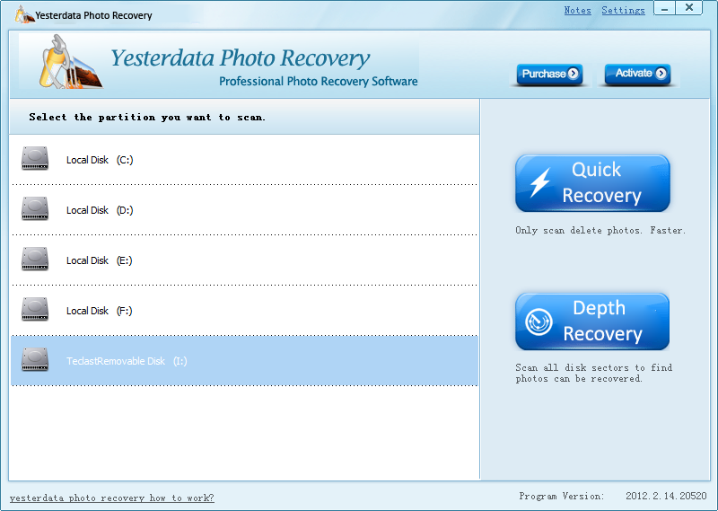Install Olympus Photo Recovery Software